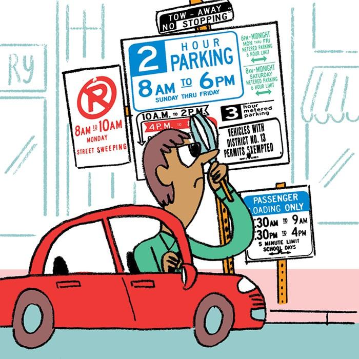 Har fået en parkeringsbøde, mens jeg hentede parkeringstilladelse